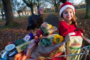 Pictured at the launch of Agri Aware's Christmas radio campaign, urging consumers to buy Irish produce and to communicate the importance of the reformed Common Agricultural Policy (CAP) in delivering quality and sustainably produced food, is Ella McCarthy, aged 3 from Sandyford, Dublin.